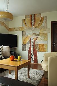innenraumgestaltung wohnzimmer haus w nde wandbehang